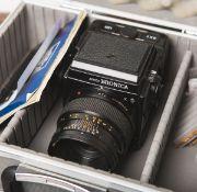 """Kamera """"Bronica GS-1"""" von Zenza (Bj. 1995 - 2005), Nr. 3115967 / 4115327, Objektiv"""