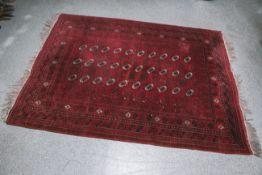 Antiker Teppich (Afghanistan, ca. 80-100 Jahre alt), ca. 3 x 2,20 m. Altersgem.