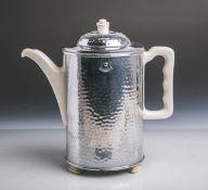 Art Déco-Isolierkanne (SUS Bauscher, wohl 1920-1949, Unterbodenritzmarke Thermisol, bez.