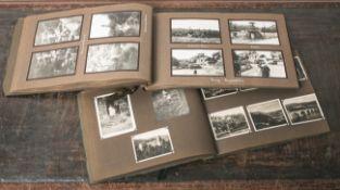 Zwei private Fotoalben, 1914, Reise-Erinnerungen etc./ungezählt. Altersgem.