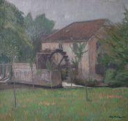 Mulot, Willy (1889-1982), Mühle im Taunus (wohl 1912), Öl/Lw., re. u. sign. u. dat. (wohl