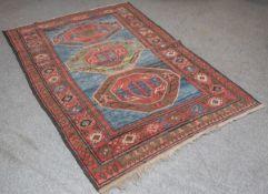 Kasak Teppich (Kaukasus, wohl 19. Jahrhundert), Wolle auf Wolle, handgeknüpft,