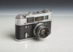 """Kamera """"FED 4"""" (Made in USSR, Baujahr 1964-80), Objektiv """"I-61"""", 2,8/52, Nr. 7175427."""