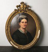 Unbekannter Monogrammist HP (19. Jahrhundert), Portrait einer Dame (1869), Öl auf