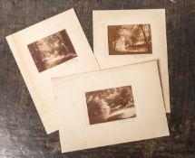 Schwerdtfeger (wohl 19./20. Jahrhundert), drei Schwarz-Weiß-Fotografien, wohl München