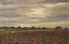 Franke, Hanni (1890-1973), Herbstliche Landschaft im Taunus, Öl auf Malplatte, unten links