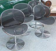 Ohl, Herbert (1926-2012), 4x Sessel O-Line (1980er Jahre), by Wilkhahn, Chrom, Sitzfläche