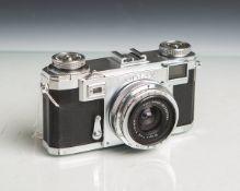 """Kamera """"Contax IIa"""" von Carl Zeiss (Stuttgart, Baujahr 1949 - 1961), Nr. F 23602, Objektiv"""