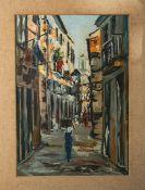 D'Almeida, Manuel wohl (20. Jahrhundert), Straßenszenerie in der Altstadt von Lissabon