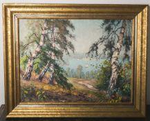 "Herrmann, Willy (1895-1963), rs. bez. ""Seelandschaft"", Öl auf Leinwand, unten rechts"