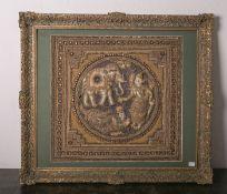 Stickarbeit (Indien, 19./20. Jahrhundert), Darstellung einer hinduistischen Gottheit m.einem
