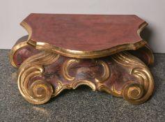 Holzschnitzarbeit eines Postaments im barocken Stil gearbeitet (20. Jahrhundert),polychrome