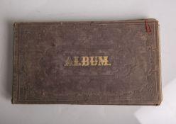Poesiealbum (19. Jahrhundert), handschriftliche Eintragungen um 1854-68, teils m.kolorierten