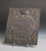 Samsara (Alter unbekannt), gearbeitet aus Kupferblech, Bezeichnung für den immerwährendenZyklus