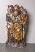 Figurengruppe von 5 Männern (20. Jahrhundert, nach mittelalterlichem Vorbild),Zentralfigur im