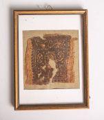Tuchreste (Agypten, Spätantike 600-800 n. Chr.), Fragment einer koptischen Tunika, ca. 10x 10 cm,
