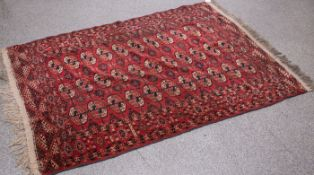 Teppich Bouchara (Turkmenistan, um 1900), Wolle auf Baumwolle, handgeknüpft, ca. 180 x 127cm.