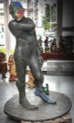 Lüpertz, Markus (geb. 1941), eine schwergewichtige Bronzefigur von Apoll, individuell vonM.