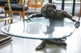Voci, Nicola (20. Jahrhundert), Darstellung eines sitzenden Frauenaktes, die Hände eine