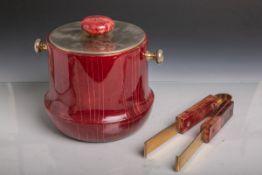 Aldo Tura-Eisbehälter plus Zange (Atelier Aldo Tura, Mailand, Italien, 1950/60er Jahre),