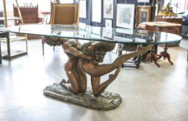 "Voci, Nicola (20. Jahrhundert), Figurengruppe Rudy ""Tänzerpaar"", Bronze (Vollguss), auf"