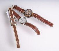 Drei verschiedene Constantin Weisz-Herrenarmbanduhren (neuzeitlich, Deutschland),