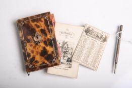 Kleiner Taschenkalender (wohl 19. Jahrhundert), Einband wohl aus Schildpatt mit