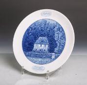 """Porzellan-Zierteller """"Weimar-Goethes Gartenhaus"""" von Meissen (blaue"""