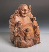 Buddha mit Kinderfiguren (wohl 20. Jahrhundert, wohl China), vollplastische