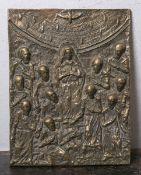 Zschokke, Alexander (1894 - 1981), schwere Bronzebildplatte m. Darstellung von Chistus m.