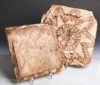 Flache Trommel (Mappi Hochland, Papua-Neuguinea), äußerst seltener Ritualtrommel,