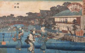 Entw. Hiroshige Kuniyoshi oder Kunisada (wohl 18/19. Jahrhundert), Darstellung einer