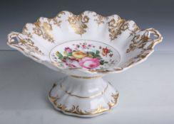 Porzellanaufsatzsschale (aus der Zeit des Biedermeiers, wohl 19. Jahrhundert), mit