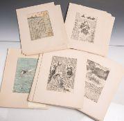 Außergewöhnliche Sammlung von 37 japanischen Farb-/Holzschnitten (wohl 18./19.
