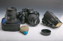 "Nikon-Fotokamera ""F 60"" (Japan, Gehäuse-Nr. 2165350), mit Tamron Aspherical-Objektiv"