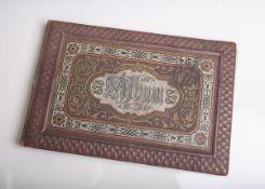 Altes schön gestaltetes Poesiealbum mit geprägtem Einband (Ober-Lahnstein, 1886/87),