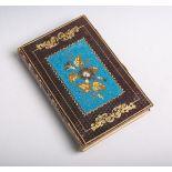 Altes Notiz-/Tagebuch (19. Jahrhundert), Einband mit Goldprägeverzierungen und feiner