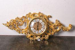 """Cartell-Wanduhr """"Gzura"""" (im barocken Stil, neuzeitlich, Swiss made), geschnitztes Gehäuse"""