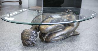 """Voci, Nicola (20. Jahrhundert), Tisch """"Valentina"""", Bronze (Vollguss), Darstellung eines"""