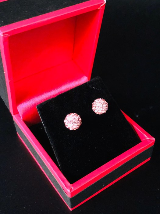 Lot 39 - Two Pairs of Silver Ball Stud Earrings