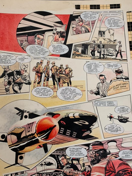 """Lot 203 - Storyboard artwork from Thunderbirds """"The Earthquake Maker"""" TV21 No 143 - No3 1967 by the famous"""