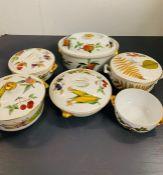 A Selection of Six Royal Worcester Evesham serving bowls.