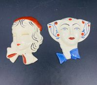 Two Bizarre by Clarice Cliff for Wedgwood wall plaques