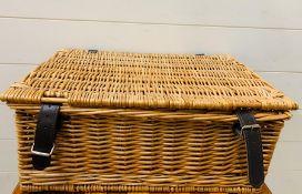 A Wicker picnic basket