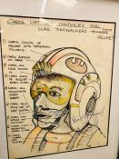 Star Wars: A Rare and Unique Item of Memorabilia. Luke Skywalker drawing with funny comments down