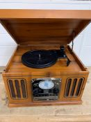 Scotts and Co turn table, USB, CD radio with cassette player