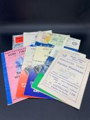 Selection of vintage football programmes and Wembley tickets