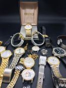 A Selection of Quartz watches, various makers and conditions.