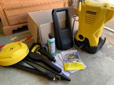 Karcher high pressure washer with attachments