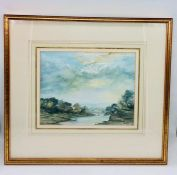A pair of framed watercolours signed by Mady